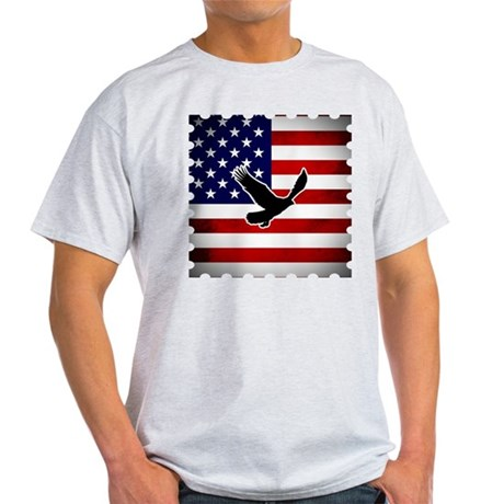 American Flag with Eagle Light T-Shirt