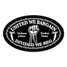 United We Bargain Bumper Stickers