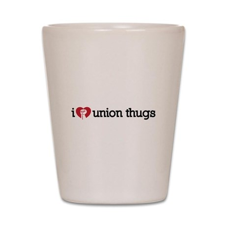 I Love Union Thugs Shot Glass