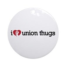I Love Union Thugs Ornament (Round)