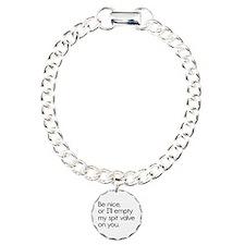 Spit Valve Charm Bracelet, One Charm