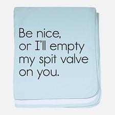 Spit Valve baby blanket