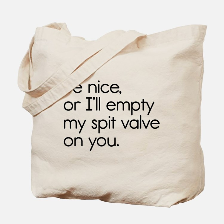 Spit Valve Tote Bag