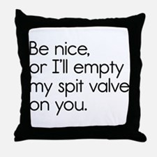 Spit Valve Throw Pillow