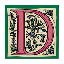 """Garden """"D"""" in Mauve Tile Coaster"""