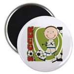 Boy Soccer Player Magnet