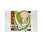 Boy Soccer Player Rectangle Magnet