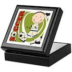 Boy Soccer Player Keepsake Box