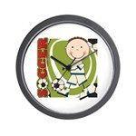 Boy Soccer Player Wall Clock