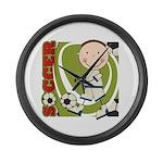 Boy Soccer Player Large Wall Clock