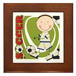 Boy Soccer Player Framed Tile
