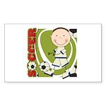 Boy Soccer Player Sticker (Rectangle 10 pk)