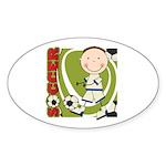 Boy Soccer Player Sticker (Oval)