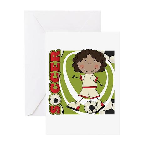 AA Girl Soccer Player Greeting Card