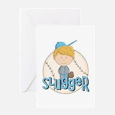 Baseball Slugger Greeting Card