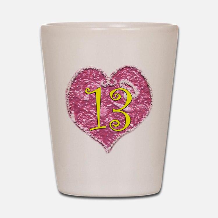 13th Birthday Shot Glass
