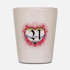 Gothic Heart 21st Shot Glass