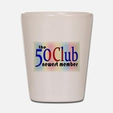 The 50 Club Shot Glass
