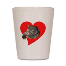 Wombat Love Shot Glass