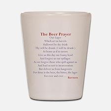 Beer Prayer, Beer Humor Shot Glass