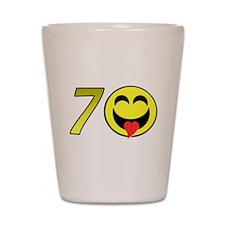 70th Birthday Shot Glass