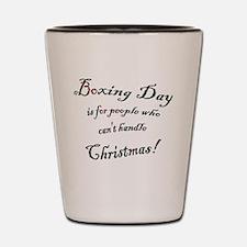 Boxing Day Shot Glass