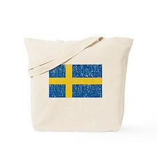 Vintage Sweden Flag Tote Bag