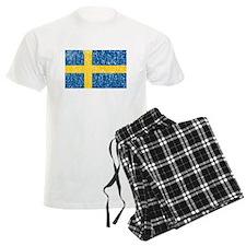 Vintage Sweden Flag Pajamas