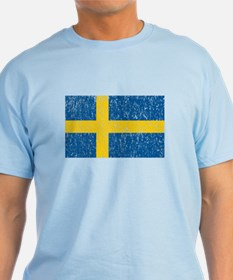 Vintage Sweden Flag T-Shirt