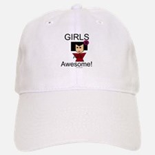 Girls Are Awesome Baseball Baseball Cap