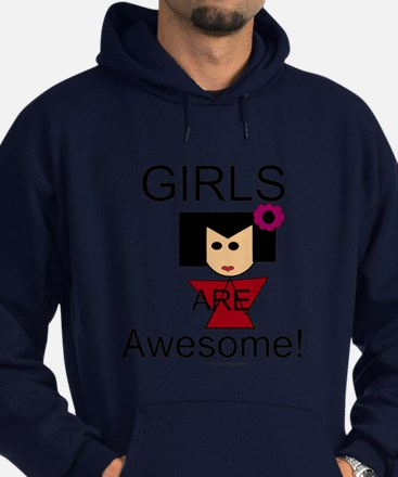 Girls Are Awesome Hoodie (dark)