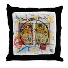New Post Office Patina Throw Pillow