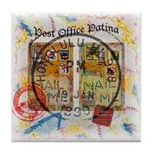 New Post Office Patina Tile Coaster