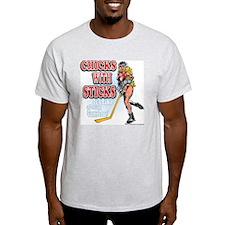 Chicks with Sticks Ash Grey T-Shirt