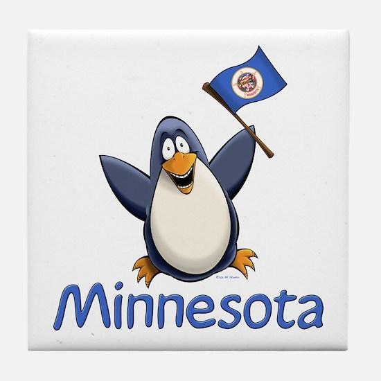 Minnesota Penguin Tile Coaster