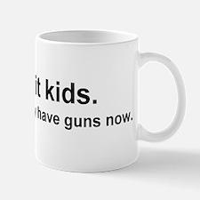 Don't hit kids. No, seriously Mug