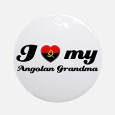 I love My Angolan Grandmother Ornament (Round)