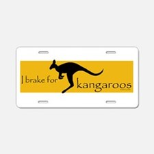 Funny Kangaroo Aluminum License Plate