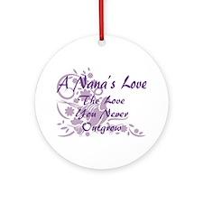 Nana Love Ornament (Round)