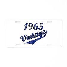 Unique 1965 Aluminum License Plate