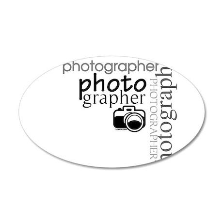 Photographer 38.5 x 24.5 Oval Wall Peel