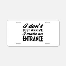Entrance Aluminum License Plate