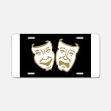 Drama Masks Aluminum License Plate