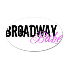 Broadway Babe 22x14 Oval Wall Peel