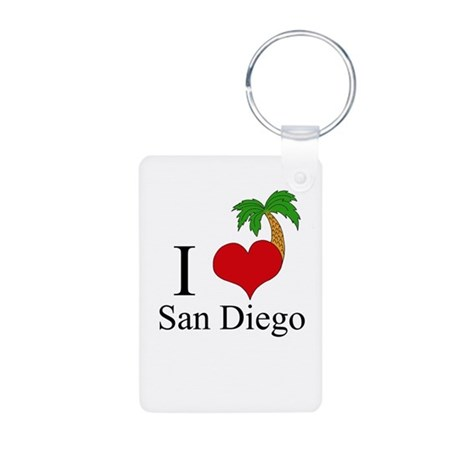 San Diego Aluminum Photo Keychain