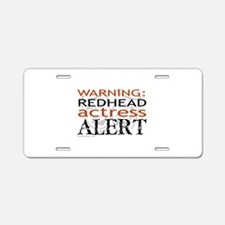 Warning: Redhead Actress Aluminum License Plate