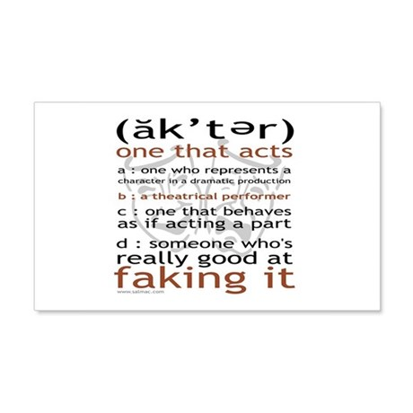 Actor (ak'ter) Meaning 22x14 Wall Peel