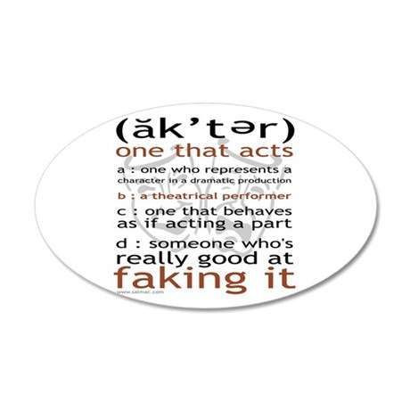 Actor (ak'ter) Meaning 38.5 x 24.5 Oval Wall Peel