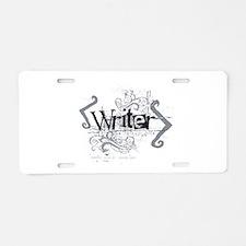 Grunge Writer Aluminum License Plate