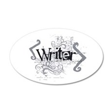 Grunge Writer 22x14 Oval Wall Peel